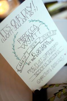 Sedona : Wedding Invitation Suite. $3.00, via Etsy.