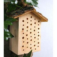 Vivara Abri à insectes Escaut Wood Design, Bird Houses, Nature, Garden, Outdoor Decor, Corner, Home Decor, Animal Protection, Feed Trough
