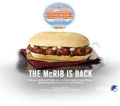 McDonald's re-introduce the McRib bun