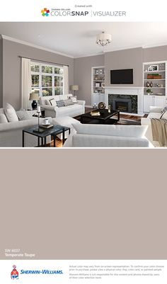 I found this color with ColorSnap® Visualizer for iPhone by Sherwin-Williams: Temperate Taupe (SW 6037).