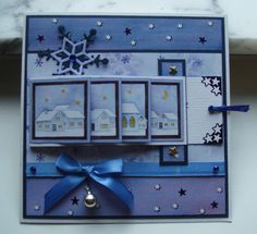 Christmas village by - Cards and Paper Crafts at Splitcoaststampers Christmas village by - Cards and Paper Crafts at Splitcoaststampers Christmas Cards To Make, Xmas Cards, Holiday Cards, Christmas Christmas, Christmas Crafts, Christmas Ornaments, Fancy Fold Cards, Folded Cards, Tarjetas Pop Up