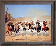Impact Posters Gallery Western Cowboy Shoot Out on Horses Old West Wall Decor Picture Barnwood Framed Art Print Vintage Painting, Framed Art, West Art, Poster Prints, Southwest Art, Western Art, Painting, Art, Framed Art Prints