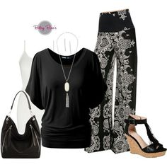 (pre-order) Set 464; Black Hana Palazzo Pants (bag & shoes sold separate)