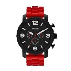 Our military-inspired Nate has a laid-back yet rugged feel with its oversized dial and sporty silicone strap. It looks great dressed down with your favorite pair of denim and a crisp, white tee. JR1422