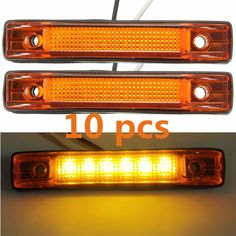 New 10pcs 6 LED Utility Strip Led Marker Clearance Light Red Yellow White Color Lamp - $25.99