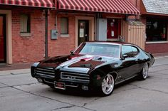 Sweet '69 Pontiac GTO. Awesome American Muscle Car!