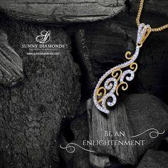 Highly stylish diamond pendant.