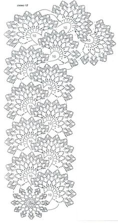 Best 12 Ideas for crochet flowers diagram – SkillOfKing. Crochet Cord, Crochet Lace Edging, Form Crochet, Crochet Diagram, Tatting Patterns, Crochet Stitches Patterns, Lace Patterns, Filet Crochet, Irish Crochet