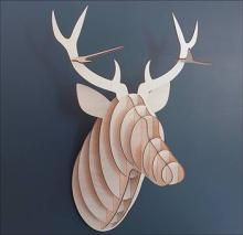 Wooden Deer Head with Antlers - £25.00 - A great range of Most Loved gifts and homewares from The Contemporary Home Online Shop