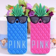 3D Glasses Pineapple Silicone Soft Rubber Case Cover For samsung galaxy s3 s4