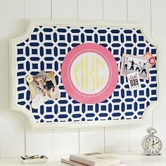 hopefully getting this super cute pin board in my room to match my bedding!!!! love pbteen <3