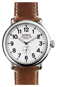 'The Runwell' Leather Strap Watch, 47mm / @nordstrom #nordstrom