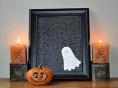 ~ Kids Craft: Halloween Ghost Picture Frame ~