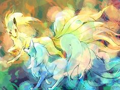 Zerochan anime image gallery for Ninetales, Fanart. Type Pokemon, Pokemon Sun, Pokemon Team, Pokemon Images, Pokemon Pictures, Alolan Vulpix, Anime Wolf Drawing, Catch Em All, Kawaii