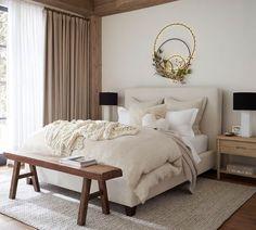 Master Bedroom Design, Home Decor Bedroom, Calm Bedroom, Peaceful Bedroom, Rustic Bedroom Design, Wood Bedroom Furniture, Zen Interiors, End Of Bed Bench, New Room