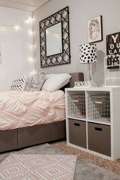 Grey, black and blush bedroom. - House of Rose Blog