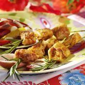 Brochettes de poulet mariné au paprika - une recette Volaille - Cuisine