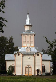 Soinin kirkko ja kellotapuli. Mosques, Cathedrals, Grave Monuments, Graveyards, Altars, Temples, Architecture, House, Finland