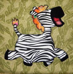 (7) Name   Quilting   Baby Zebra Applique Block Almofadas 8c2c22572bb66