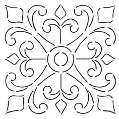 spanish stencil designs | spanish tile stencils - Google Search Wall Stencil for sunroom
