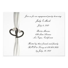 Black  White Diamond Engagement Party Invitation  Personalize this invitation to make it your own. Change font style, color and size as well as background color and paper type by using the customize it button. #bridegroom
