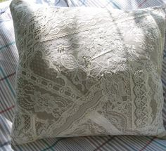 Patchwork Lace and Ribbon Pillow