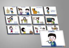 Educación Tareas en el Cole.  Pictogramas pensados para que los niños en sus primeros años escolares, aprendan gracias a la representación visual de figuras y objetos.