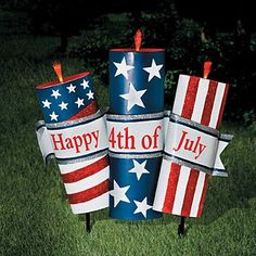 4th of july yard decor | 4th of July Metal Yard Decorations