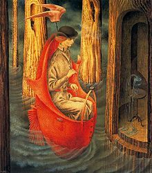 Remedios Varo...    Surrealist painter... she lived in Mexico but was from Spain...    part of my inspiration... magic in her work!