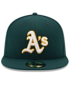 New Era Kids' Oakland Athletics Authentic Collection 59FIFTY Cap - Green 6 3/8