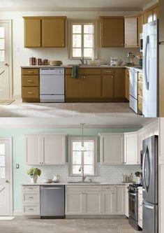 Makeover: Küche verschönern Vorher-Nachher (Teil 2 | Küche neu ...