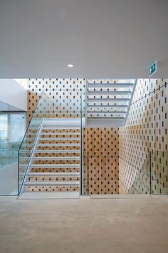 Since 1998 the Web Atlas of Contemporary Architecture Contemporary Architecture, Contemporary Interior, Architecture Design, Commercial Interior Design, Commercial Interiors, Commercial Stairs, Wooden Cradle, Acoustic Wall Panels, Wooden Facade