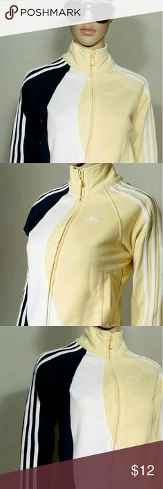 Adidas Womens Yellow Full-Zip Track Jacket Size S SMALL 55% Cotton 45% Polyester In very good condition!! Very adorable!! A great gift!! Fast shipping!! Adidas Jackets & Coats