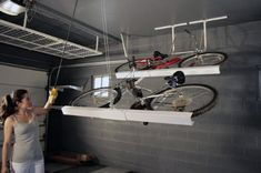 Haus garage storage solutions uk ideas the handy mano manomano ceiling store bike rack Organizing A
