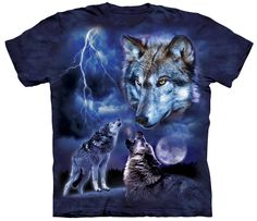 New Design! Marvel at the Moon with this Wolfpack when you wear this! FREE Shipping for a Limited Time! ==>> NOTE: We make a donation to Organizations that Positively Influence the lives of wolves in