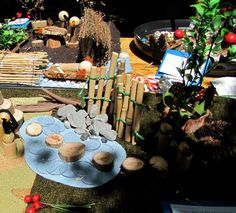 Irresistible Ideas for play based learning » Blog Archive » miniature playscape fences