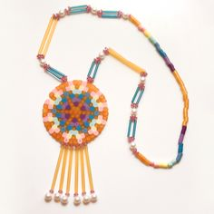 8-Bit Neo-Traditional Medallion - Solar Flare by Beyond Buckskin Boutique