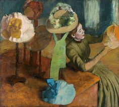 Edgar Degas (French, 1834–1917)  The Millinery Shop, ca. 1882–86  Oil on canvas