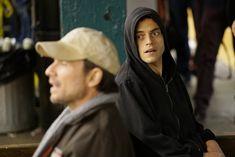 Christian Slater and Rami Malek in Mr. Robot (2015)