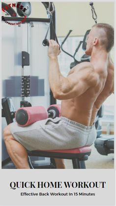 Get a quick effective back workout at home in under 15 minutes! Back Workout At Home, At Home Workouts, Weight Training Workouts, Training Tips, Muscle Hypertrophy, Manly Man, No Equipment Workout, Routine, Guys