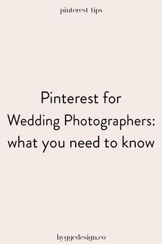 Are you thinking Pinterest won't help you out as a wedding photographer? Think again! As a wedding photographer, Pinterest marketing can be a great way to help you market to your ideal clients and drive more traffic to your site. Click to learn everything you need to know to get started!