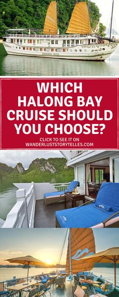 Wondering which Halong Bay cruise to choose for your Vietnam holiday? The decision can be slightly overwhelming, so we wanted to help you choose the right cruise for you! Visit our guide to make it easy peasy! ..................................................... Vietnam Travel, Bai Tu Long Bay, Vietnam Cruise, Holiday in Vietnam, Hanoi Day Trip, Indochina Sails, Bhaya Cruise ................................................... #vietnam #cruise #asia