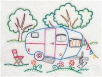 Machine Embroidery Designs at Embroidery Library! - A Happy Campers (Vintage) Design Pack - Sm