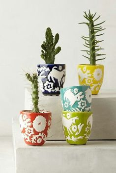 Mini concha pots ($40) inspired by Mexican landscape