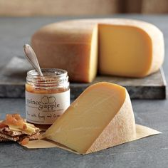 Pleasant Ridge Cheese with Honey Ginger Pear Preserves