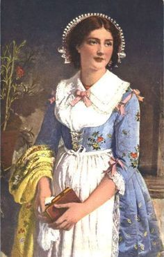 FolkCostume&Embroidery: Costume of Brianza, Italy, and Mendrisiotto, Switzerland, and La Raggiera Europe Fashion, Fashion History, Italy Culture, Italian Traditions, Italy Outfits, Folk Clothing, Cottage Art, Italian Women, Vintage Italy