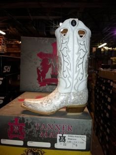 white cowboy boots | White Wedding Cowboy Boots by StandOutInTheHerd on Etsy