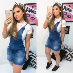 Teen Fashion Outfits, Denim Fashion, Girl Fashion, Womens Fashion, Jeans Dress, Shirt Dress, Pretty Outfits, Cute Outfits, Blue Jean Dress