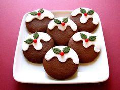Christmas Pudding Cookies #cookies #christmas