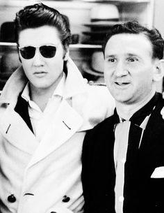 Elvis with Bernard Lansky at the Lansky Brothers Clothing Store on Beale Street, Memphis, 1956.